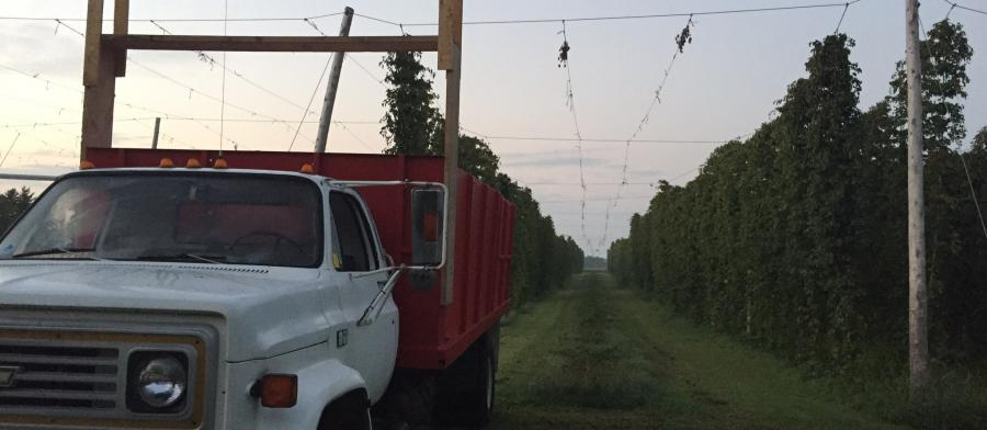 Hops with truck