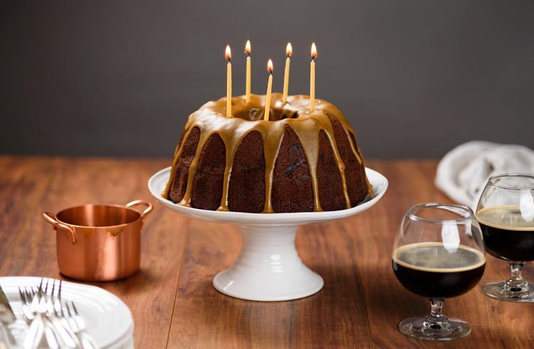 Stout CakeGâteau d'anniversaire à la bière
