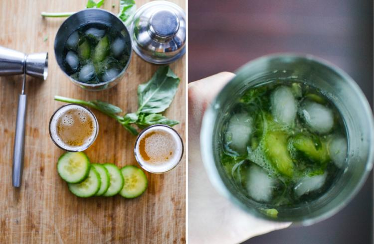 Cucumber Basil Pale Ale Cooler