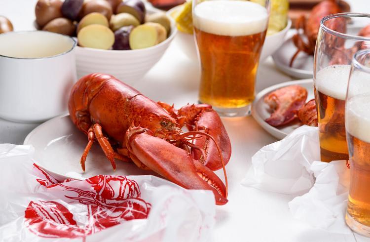 Lobster Steamed in Beer