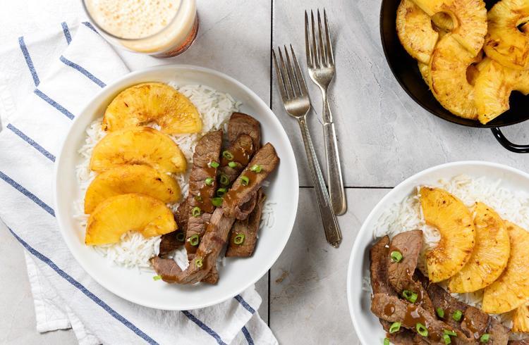 Teriyaki Beef with Pineapples
