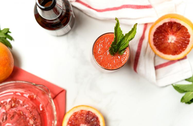 Blood Orange Mint Mocktail