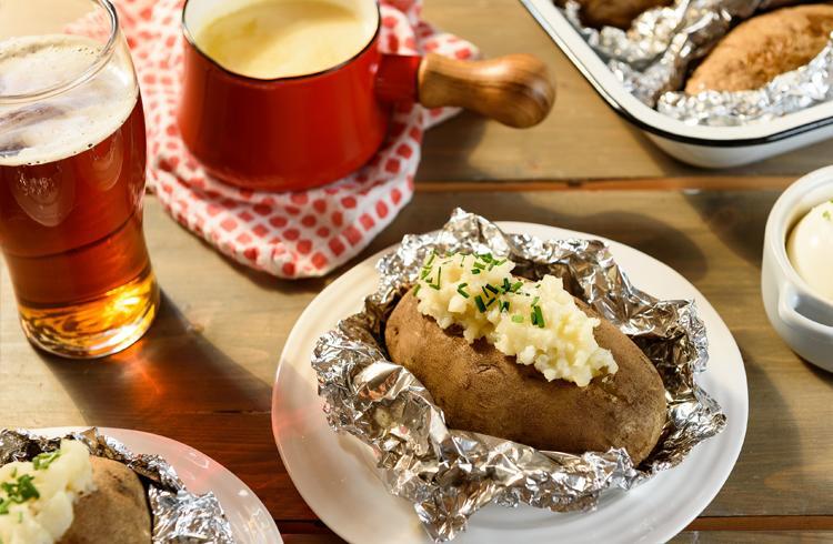 Pommes de terre rôties au beurre de bière