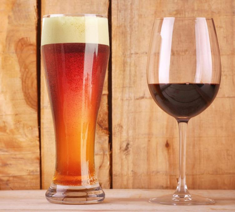 Beer vs. wine image
