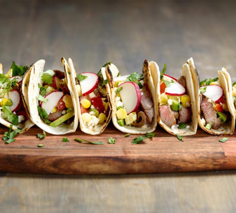 Tacos au bœuf mariné à la bière