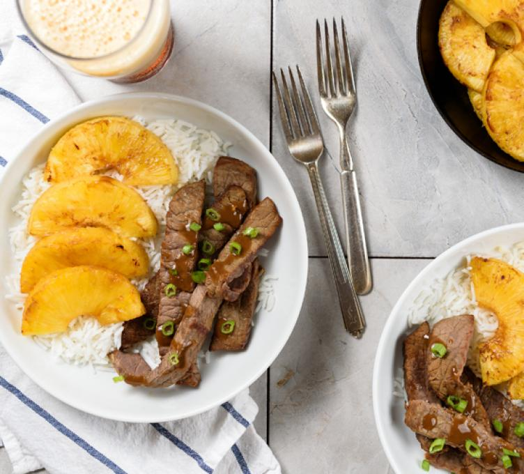 Teriyaki Beef with Pineapples